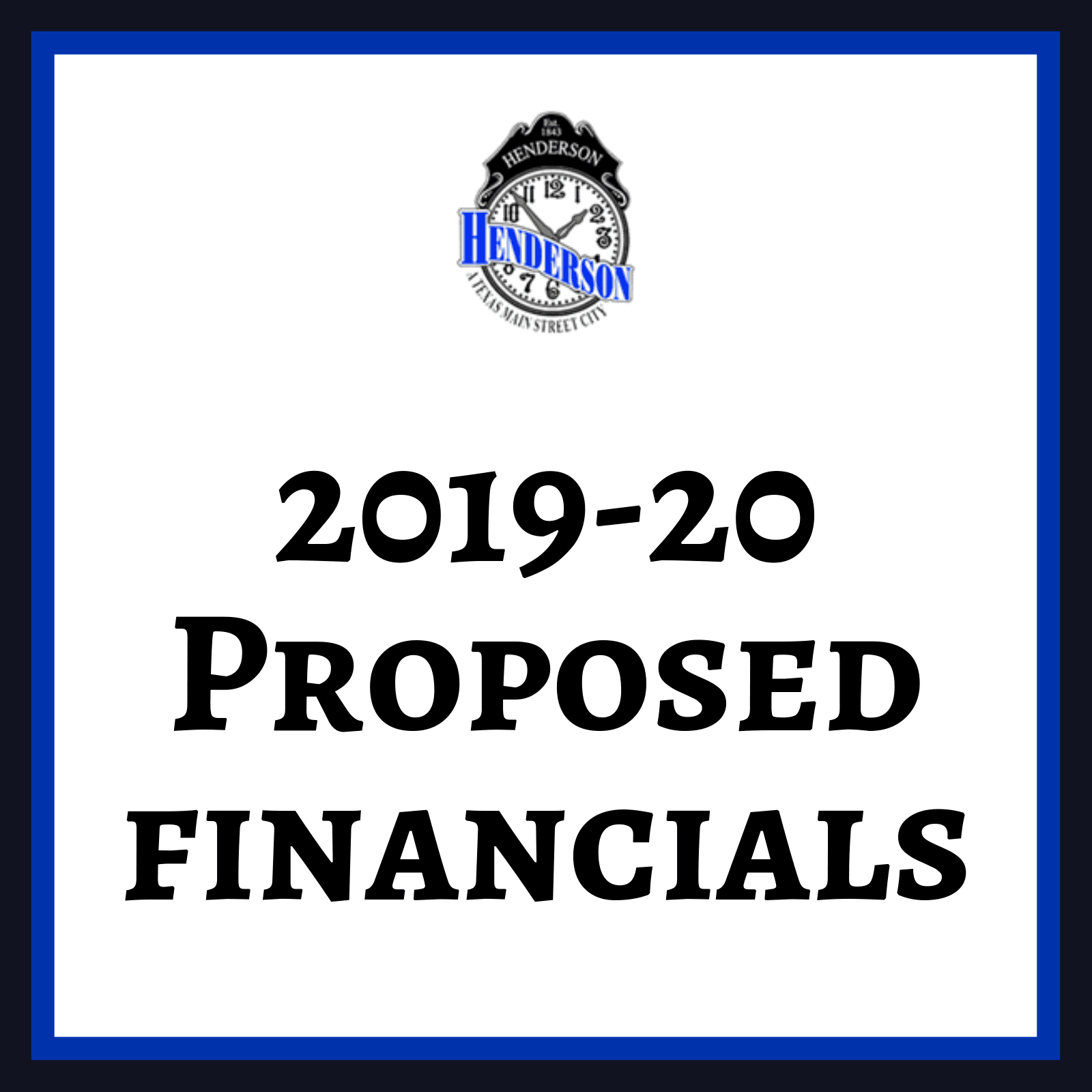 2019-20 Proposed financials