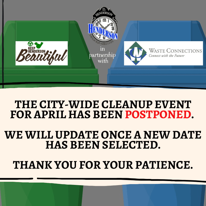 CITY-WIDE CLEANUP CANCELED