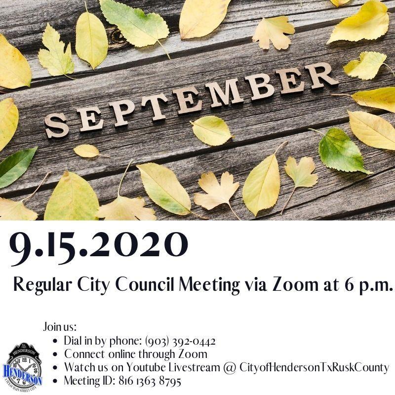 6 September Council Meeting 9-15